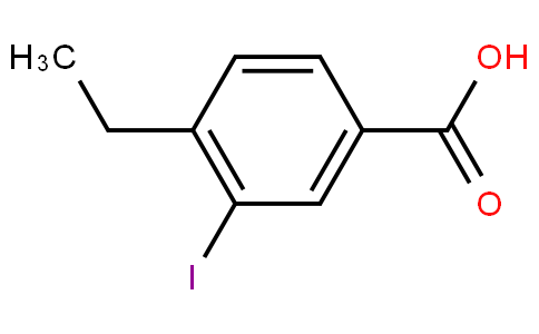 80312 - 4-ethyl-3-iodanyl-benzoic acid | CAS 103441-03-8