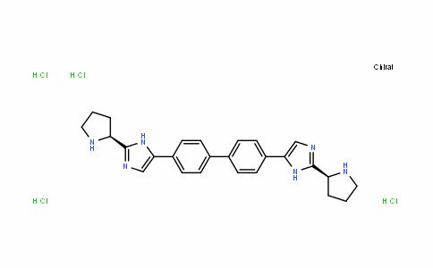 5,5'-[1,1'-Biphenyl]-4,4'-diylbis[2-(2S)-2-pyrrolidinyl-1H-imidazole] hydrochloride (1:4)