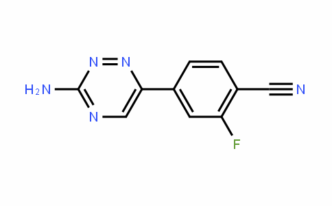 4-(3-氨基-1,2,4-三嗪)-2-氟苯甲腈