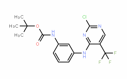 tert-butyl (3-((2-chloro-5-(trifluoroMethyl)pyriMidin-4-yl)aMino)phenyl)carbaMate