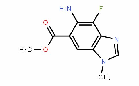 Methyl 5-aMino-4-fluoro-1-Methyl-1H-benzo[d]iMidazole-6-carboxylate