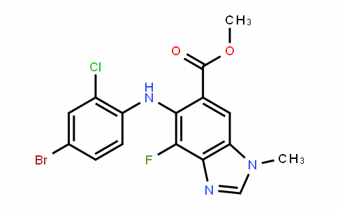 Methyl 5-(4-broMo-2-chlorophenylaMino)-4-fluoro-1-Methyl-1H-benzo[d]iMidazole-6-carboxylate