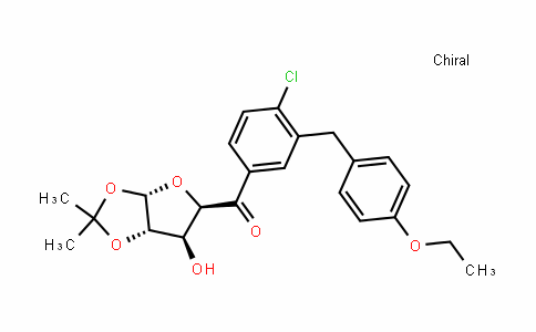 D-xylo-Pentodialdo-5,2-furanose, 1-C-[4-chloro-3-[(4-ethoxyphenyl)Methyl]phenyl]-4,5-O-(1-Methylethylidene)-,(5S)-