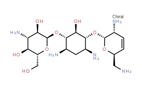 (2S,3R,4S,5S,6R)-4-amino-2-(((1S,2S,3R,4S,6R)-4,6-diamino-3-(((2R,3R,6S)-3-amino-6-(aminomethyl)-3,6-dihydro-2H-pyran-2-yl)oxy)-2-hydroxycyclohexyl)oxy)-6-(hydroxymethyl)tetrahydro-2H-pyran-3,5-diol