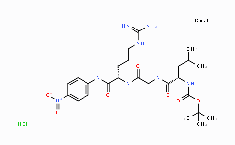 Boc-Leu-Gly-Arg-PNA.HCl