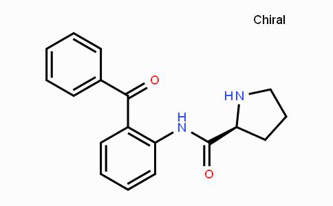 (2S)-N-(2-benzoylphenyl)-2-Pyrrolidinecarboxamide