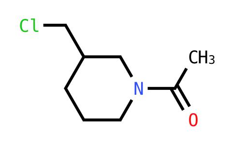 1-[3-(Chloromethyl)piperidin-1-yl]ethan-1-one