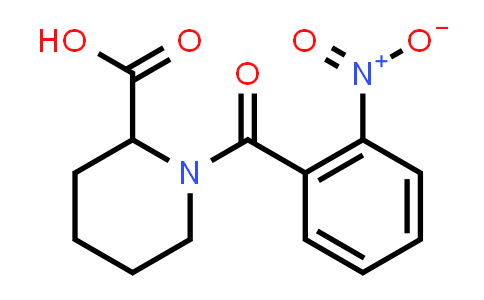 1-(2-Nitrobenzoyl)piperidine-2-carboxylic acid