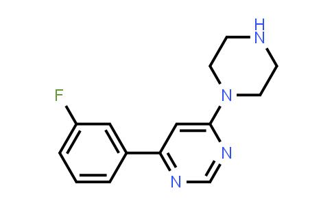 4-(3-Fluorophenyl)-6-piperazin-1-ylpyrimidine