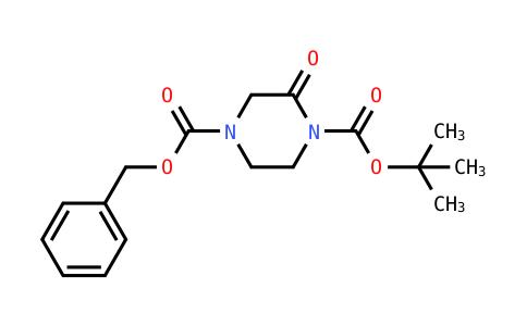 4-Benzyl 1-tert-butyl 2-oxopiperazine-1,4-dicarboxylate