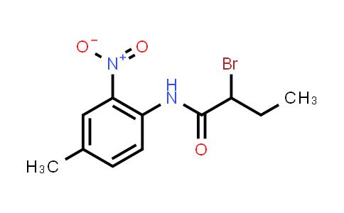 2-Bromo-n-(4-methyl-2-nitrophenyl)butanamide