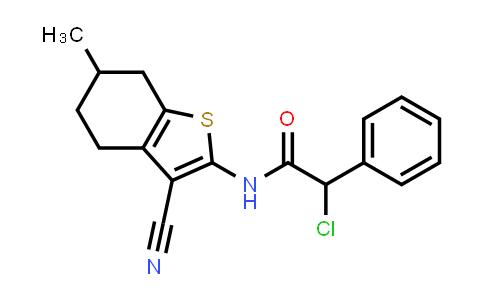 2-Chloro-n-(3-cyano-6-methyl-4,5,6,7-tetrahydro-1-benzothien-2-yl)-2-phenylacetamide