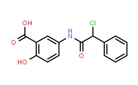 5-{[Chloro(phenyl)acetyl]amino}-2-hydroxybenzoic acid