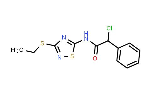 2-Chloro-n-[3-(ethylthio)-1,2,4-thiadiazol-5-yl]-2-phenylacetamide