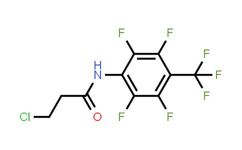 3-Chloro-N-[2,3,5,6-tetrafluoro-4-(trifluoromethyl)phenyl]propanamide