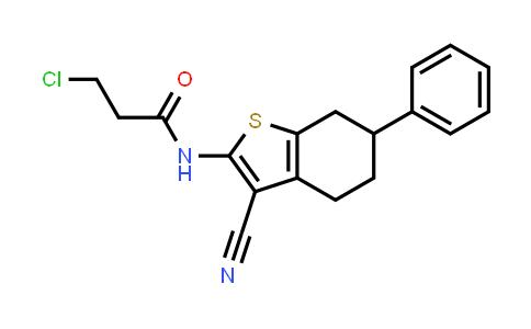 3-Chloro-N-(3-cyano-6-phenyl-4,5,6,7-tetrahydro-1-benzothien-2-YL)propanamide