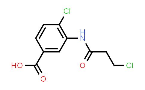 4-Chloro-3-[(3-chloropropanoyl)amino]benzoic acid