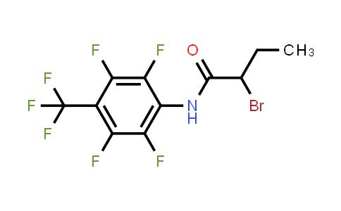 2-Bromo-n-[2,3,5,6-tetrafluoro-4-(trifluoromethyl)phenyl]butanamide