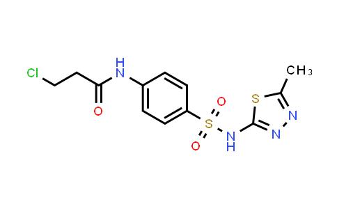 3-Chloro-N-(4-{[(5-methyl-1,3,4-thiadiazol-2-YL)amino]sulfonyl}phenyl)propanamide