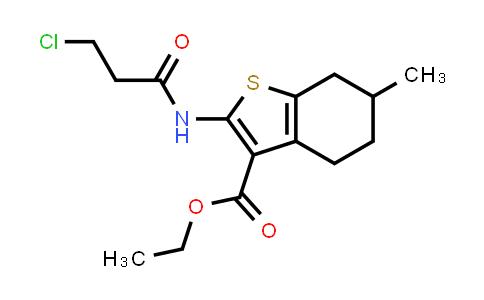 Ethyl 2-[(3-chloropropanoyl)amino]-6-methyl-4,5,6,7-tetrahydro-1-benzothiophene-3-carboxylate