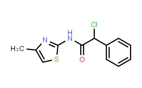 2-Chloro-n-(4-methyl-1,3-thiazol-2-yl)-2-phenylacetamide