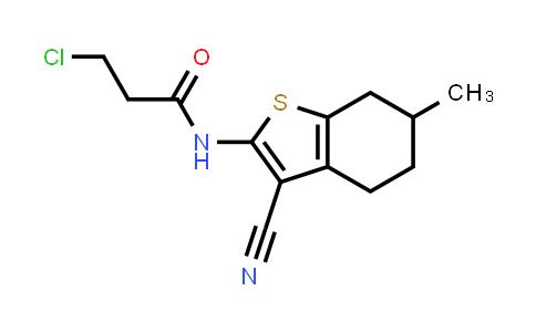 3-Chloro-N-(3-cyano-6-methyl-4,5,6,7-tetrahydro-1-benzothien-2-YL)propanamide