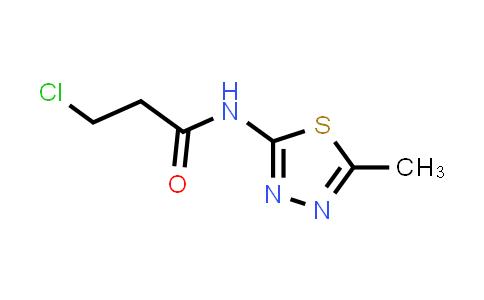 3-Chloro-N-(5-methyl-1,3,4-thiadiazol-2-YL)propanamide