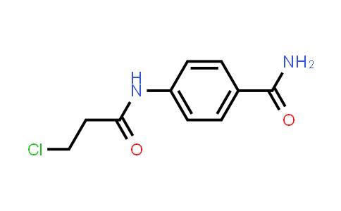 4-[(3-Chloropropanoyl)amino]benzamide