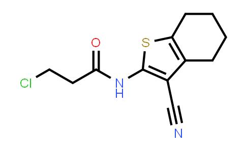 3-Chloro-N-(3-cyano-4,5,6,7-tetrahydro-1-benzothien-2-YL)propanamide