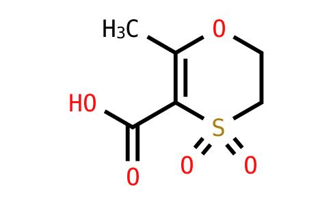 2-Methyl-4,4-dioxo-5,6-dihydro-1,4-oxathiine-3-carboxylic acid