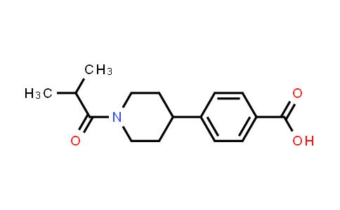 4-(1-Isobutyrylpiperidin-4-yl)benzoic acid