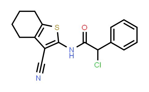 2-Chloro-n-(3-cyano-4,5,6,7-tetrahydro-1-benzothien-2-yl)-2-phenylacetamide