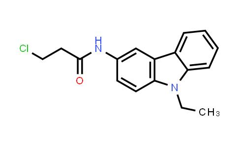 3-Chloro-N-(9-ethyl-9H-carbazol-3-YL)propanamide