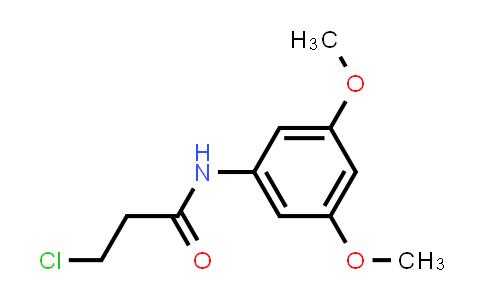3-Chloro-N-(3,5-dimethoxyphenyl)propanamide