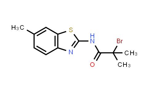 2-Bromo-2-methyl-N-(6-methyl-1,3-benzothiazol-2-YL)propanamide