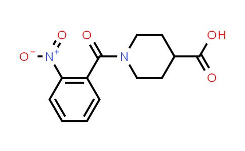 1-(2-Nitrobenzoyl)piperidine-4-carboxylic acid