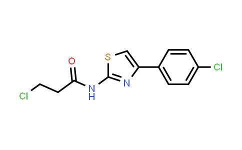 3-Chloro-N-[4-(4-chlorophenyl)-1,3-thiazol-2-YL]propanamide