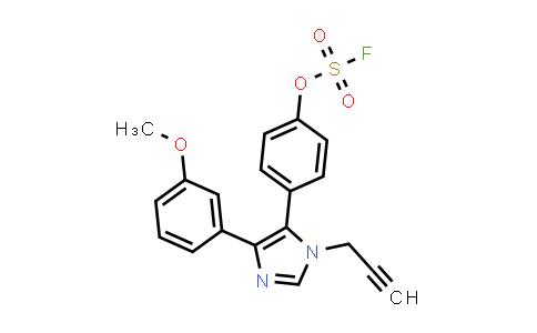 4-[5-(3-methoxyphenyl)-3-(prop-2-yn-1-yl)imidazol-4-yl]phenyl sulfurofluoridate