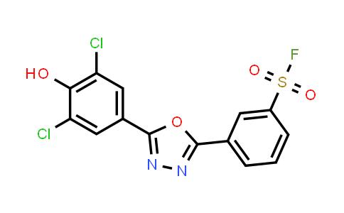 1422569-98-9 | 3-[5-(3,5-dichloro-4-hydroxyphenyl)-1,3,4-oxadiazol-2-yl]benzenesulfonyl fluoride