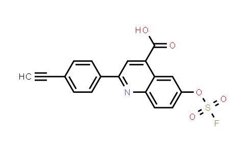 2-(4-ethynylphenyl)-6-[(fluorosulfonyl)oxy]- 4-Quinolinecarboxylic acid