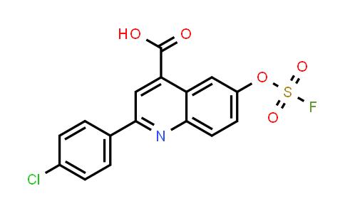 2205053-24-1   2-(4-chlorophenyl)-6-[(fluorosulfonyl)oxy]- 4-Quinolinecarboxylic acid