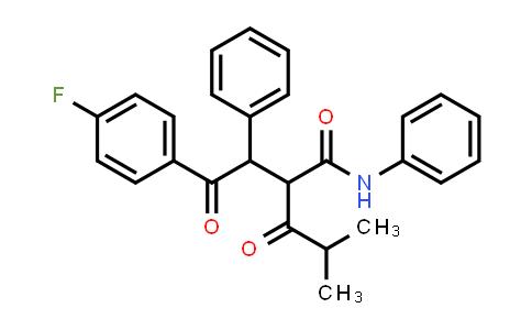 Benzenebutanamide, 4-fluoro-α-(2-methyl-1-oxopropyl)-γ-oxo-N,β-diphenyl-
