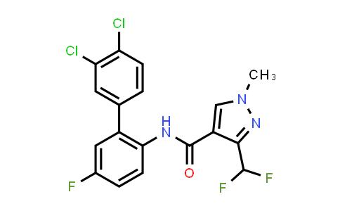 581809-46-3   N-(3',4'-Dichloro-5-fluoro-1,1'-biphenyl-2-yl)-3-(difluoromethyl)-1-methyl-1H-pyrazole-4-carboxamide