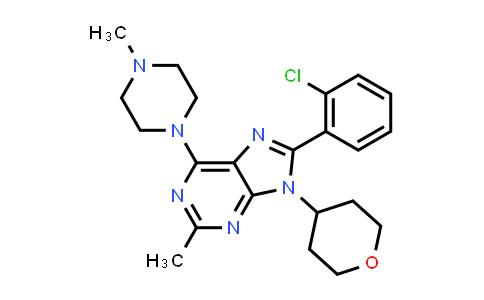8-(2-Chlorophenyl)-2-methyl-6-(4-methylpiperazin-1-yl)-9-(tetrahydro-2H-pyran-4-yl)-9H-purine