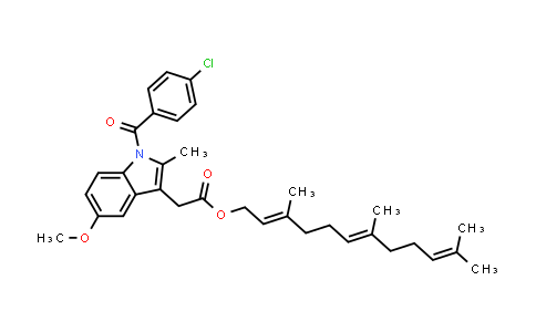85801-02-1 | 1-(4-Chlorobenzoyl)-5-methoxy-2-methyl-1H-indole-3-acetic acid 3,7,11-trimethyl-2,6,10-dodecatrienyl ester