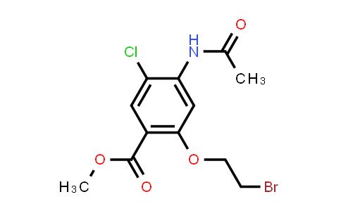 748788-41-2 | Benzoic acid,4-(acetylamino)-2-(2-bromoethoxy)-5-chloro-,methyl ester