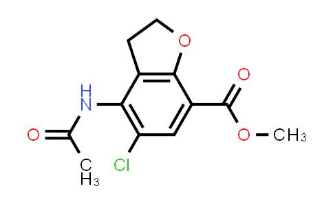 methyl 4-acetamido-5-chloro-2,3-dihydrobenzofuran-7-carboxylate