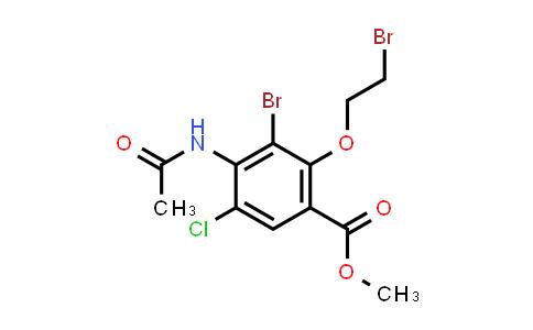 methyl 4-acetamido-3-bromo-2-(2-bromoethoxy)-5-chlorobenzoate