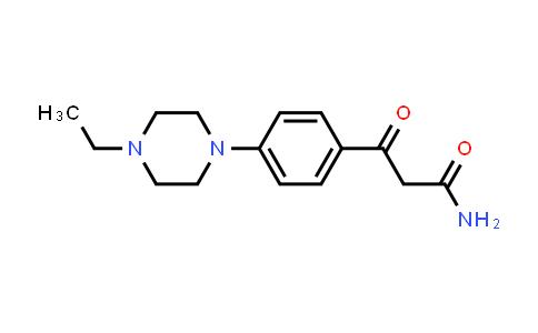 YQ000334 | 3-[4-(4-Ethyl-1-piperazinyl)phenyl]-3-oxopropanamide