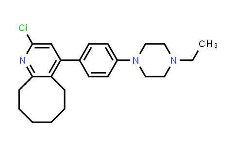 YQ000336 | 2-Chloro-4-[4-(4-ethyl-1-piperazinyl)phenyl]-5,6,7,8,9,10-hexahydrocycloocta[b]pyridine